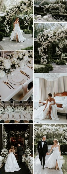 Enchanted Garden Summer Wedding Enchanted Garden Summer Wedding Stunning enchanted garden wedding dripping with white florals and gold accents. All White Wedding, Floral Wedding, Fall Wedding, White And Gold Wedding Themes, Dream Wedding, Chic Wedding, Enchanted Garden Wedding, Enchanted Wedding Themes, Fairytale Weddings
