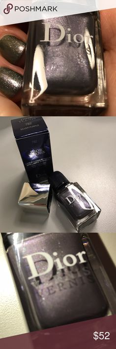 Dior long wearing nail 782 Silver Purple DC LE HTF BNIB Christian Dior Vernis long wearing nail lacquer in 782 Silver Purple. LE DC HTF stunning silvery metallic purple with mostly silver but also some different shades of glitter, hard to capture on camera. Never used, pristine condition. Price based on rarity. Christian Dior Makeup