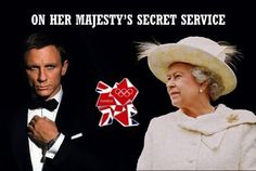 James Bond & Queen Elizabeth II