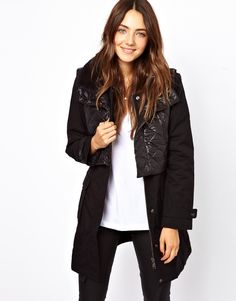 B+AB Parka With Quilted Detail And Detachable Gillet | ASOS