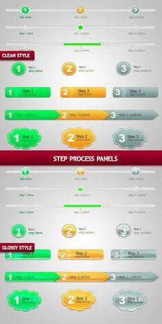 Step Process Panels Sets .PSD by BlueX-Design