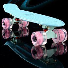 2016 mini Cruiser Skateboard luce LED A Quattro ruote Skate board per adulti e bambini piccolo skateboard Penny Consiglio banana Lunga Consiglio