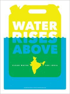 Charity: Water India-inspired Posters October 18 2019 at Charity Branding, Charity Poster, Water Poster, Life Poster, Rainforest Project, Campaign Logo, How To Raise Money, Book Design, Poster Prints