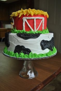 This was for a baby's first birthday. They used the top tier as the smash cake!                                                                                                                                                      More