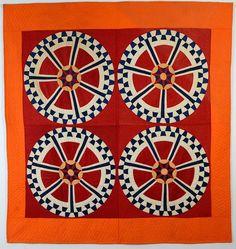 Dynamic Original Quilt Pattern:Circa 1890: Pa.