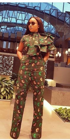 latest ankara jumpsuit out 20 selected ankara jumpsuits for every outing and office work Ankara Dress Designs, Ankara Dress Styles, African Wear Dresses, African Fashion Ankara, African Inspired Fashion, Latest African Fashion Dresses, African Print Fashion, African Attire, Ankara Styles For Women