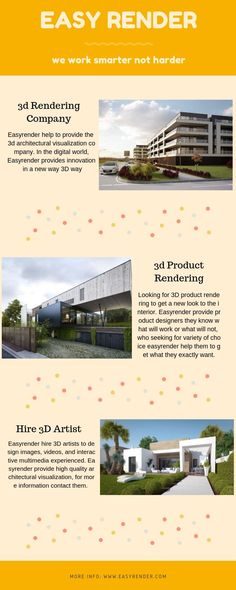Get the best Architectural Visualisation Studio! Here you would be getting the most of the Visualisation stuffs regarding the Architecture. Visit Easy Render for more details. 3d Rendering Services, 3d Architectural Visualization, Studio, Architecture, World, Easy, Arquitetura, Studios, The World
