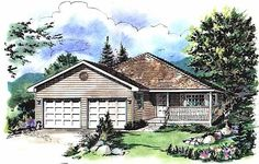 Fintry Grade Level Entry House Plan House Plans Pinterest