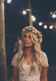 Boho Pins: Top 10 Pins of the Week – Boho Wedding Hair - Wedding Crown Boho Wedding Hair, Wedding Hair And Makeup, Wedding Dresses, Floral Crown Wedding, Wreath Wedding Hair, Flower Headband Wedding, Bridal Crown, Wedding Beauty, Trendy Wedding