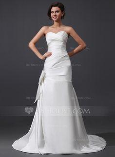 Wedding Dresses - $239.99 - A-Line/Princess Sweetheart Court Train Satin Wedding Dress With Ruffle (002030759) http://jjshouse.com/A-Line-Princess-Sweetheart-Court-Train-Satin-Wedding-Dress-With-Ruffle-002030759-g30759