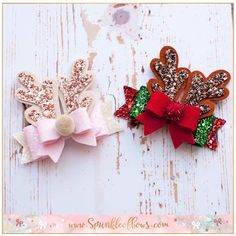 Festive antler bows Can be popped on a clip or headband to fit any age. Festive antler bows Can be popped on a clip or headband to fit any age. Making Hair Bows, Diy Hair Bows, Diy Bow, Baby Hair Accessories, Baby Hair Clips, Diy Headband, Headbands, Christmas Bows, Xmas