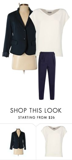 """Navy blue blazer & pants"" by osalik on Polyvore featuring Gap, Alberto Biani and Roksanda"