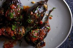 Looking for Lebanese-Style Stuffed Eggplant Recipe. Enjoy Lebanese Food and learn how to make Lebanese-Style Stuffed Eggplant. Lebanese Cuisine, Lebanese Recipes, Vegetable Recipes, Vegetarian Recipes, Healthy Recipes, Easy Recipes, Kitchen Recipes, Cooking Recipes, La Trattoria