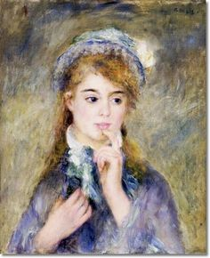 Pierre-Auguste Renoir French Impressionist Painting - The Ingenue 1877