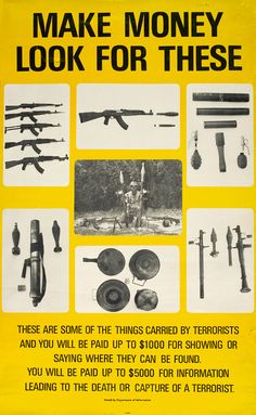 Poster from Rhodesia during civil war.