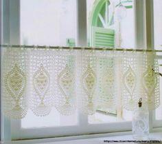 Gardine häkeln - crochet curtain