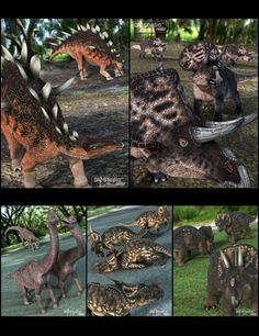 Prehistoric Prey Poses in Vendor, Digiport,  3D Models by Daz 3D
