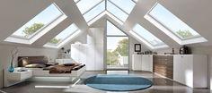 Slapen onder het dak met meubilair van Nolte van Delbrück.