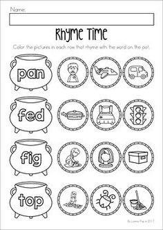Free short vowel u worksheet for preschool or kindergarten