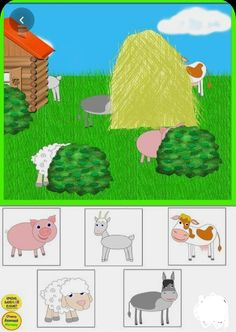 Farm Animals Preschool, Preschool Puzzles, Fall Preschool Activities, Preschool Education, Toddler Learning Activities, Free Preschool, Preschool Worksheets, Kids Learning, Animals And Their Homes