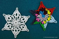 Crochet Snowflake. Free tutorial, stiffening instructions and free blocking template here!