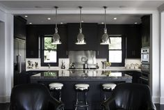 Kitchen Trends - darker colors and LED lighting.