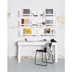 Biurko z półkami w blacie więcej na  www.sinequ.pl