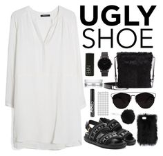 """""""Ugly (But Chic?!) Shoes"""" by aaegia ❤ liked on Polyvore featuring MANGO, Marni, VC Signature, Larsson & Jennings, Kiehl's, NARS Cosmetics, Topshop and NYX"""