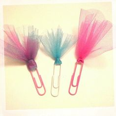 Tutu Paperclip Bookmarks 3pc set by TheInsMOMniac on Etsy, $2.00