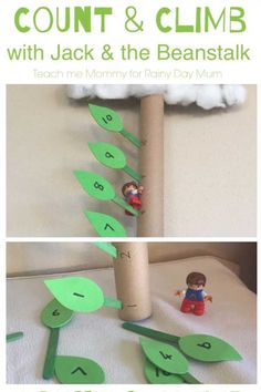 Count and climb Jack's beanstalk with this fun early year maths activity for toddlers and preschoolers for the classic Fairy Tale Jack and the Beanstalk