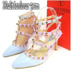 Valentino Multicolor Heels 4730 Heels 9cm Blue 35,36 240rb