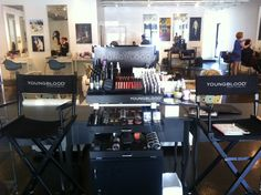 Our Lovely #makeup setup for #YoungBlood Cosmetics! Youngblood is a all mineral vegan cosmetics line made for all beauty needs in a healthy way! For a natural beauty look to a dramatic stand out look come try YoungBlood with our #Beauty Expert Eliy Bell! Xo - Craft Salon & Style Bar