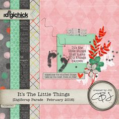 Quality DigiScrap Freebies: It's the Little Things freebie mini kit from Created by Jill