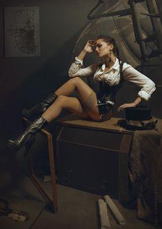 Tits, Tats & Tutu's: Photo Steampunk Cosplay, Steampunk Clothing, Steampunk Fashion, Gothic Fashion, Death Metal, Cyberpunk, Rockabilly, Steampunk Photography, Steam Girl
