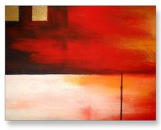 From Original Canvas Painting – Original Creative Artwork – Horizontal Squares & Rectangles Geometric Abstract – Hand Painted Original Geometric Modern Rectangles