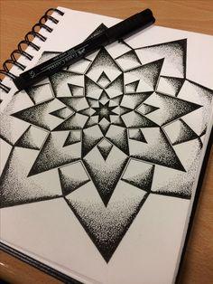 Doodle Art Drawing, Zentangle Drawings, Mandala Drawing, Cool Art Drawings, Pencil Art Drawings, Zentangles, Doodle Patterns, Zentangle Patterns, Dotted Drawings