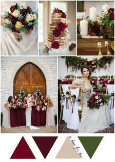 Elegant Cranberry and Champagne Christmas Wedding Colour Scheme - Wedding Blog - A Hue For Two | www.ahuefortwo.com