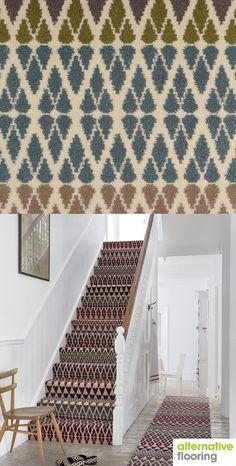 Margo Selby - Quirky B Fair Isle Annie Carpet Sample House, Home, Hall Decor, New Homes, Stairway Carpet, Traditional Interior Design, Flooring, Alternative Flooring, Home Carpet