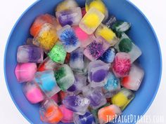 Pom Pom Ice-Cubes for Sensory Play – The Paige Diaries