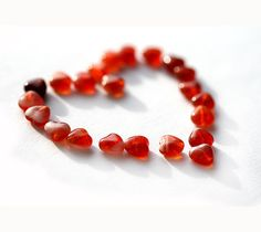 glass hearts red heart beads czech glass mixed red hearts pressed beads small hearts 6mm 50pc