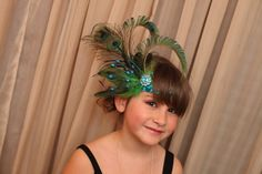 Peacock flapper headband by Madebymandydiane on Etsy