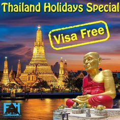 ● Dreaming of Thailand Holiday? Make your Dream Holidays very Special with More Fun & Less Money with FAB Holidays. ● Starting @ INR pp with all Inclusive. Gardens By The Bay, Top Place, Tour Operator, Universal Studios, More Fun, Dreaming Of You, Safari, Thailand, Places To Visit