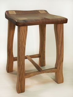This is a beautiful small stool made specifically for a client who needed a comfortable back up seat while company visited. Made from Oregon Claro Wal… Home Decor Furniture, Cheap Furniture, Industrial Furniture, Furniture Making, Wood Furniture, Bench Stool, Wood Stool, Small Stool, Diy Chair