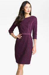 Taylor Dresses Ribbon Trim Lace Sheath Dress
