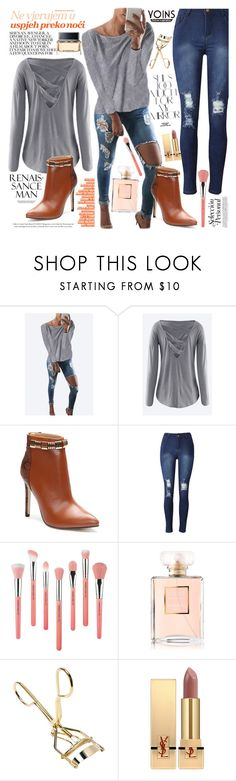 """""""Street Style"""" by vanjazivadinovic ❤ liked on Polyvore featuring Rika, Bdellium Tools, Chanel, Yves Saint Laurent and Givenchy"""