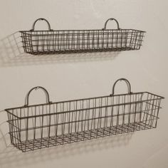 Set of Large Wire Baskets