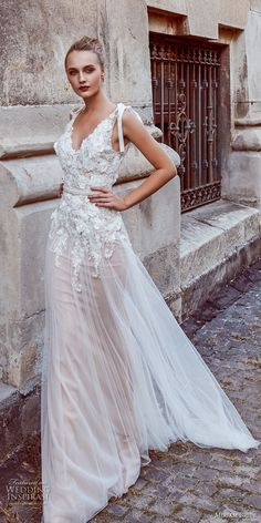miriams bride 2018 bridal sleeveless v neck heavily embellished bodice romantic soft a line wedding dress open back sweep train (8) mv -- Miriams Bride 2018 Wedding Dresses