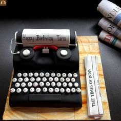 Typewriter Cake by Tricks 'n' Treats