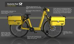 Le bici elettriche delle poste tedesche