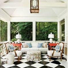 Freestanding Summer House Porch   Architect Norman Askins and interior designer Craig Duncan .